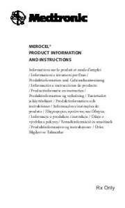 MEROCEL PRODUCT INFORMATION AND INSTRUCTIONS