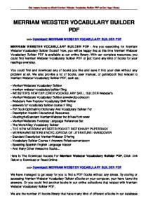 MERRIAM WEBSTER VOCABULARY BUILDER PDF