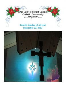Merry Christmas Feliz Navidad Fourth Sunday of Advent December 22, 2013
