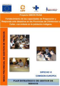 MESA PROVINCIAL DE GESTION DE RIESGOS