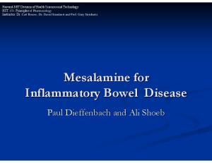 Mesalamine for Inflammatory Bowel Disease
