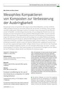 Mesophiles Kompaktieren von Komposten zur Verbesserung der Ausbringbarkeit