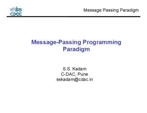 Message-Passing Programming Paradigm