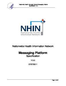 Messaging Platform Specification