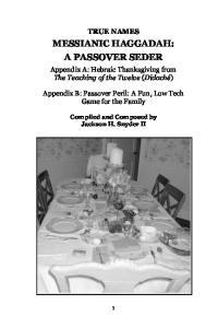 MESSIANIC HAGGADAH: A PASSOVER SEDER