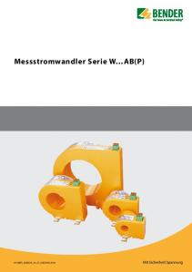 Messstromwandler Serie W AB(P)