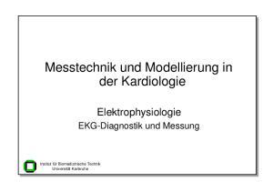 Messtechnik und Modellierung in der Kardiologie