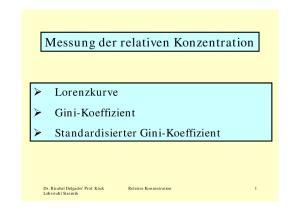 Messung der relativen Konzentration