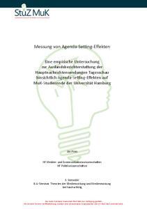 Messung von Agenda-Setting-Effekten