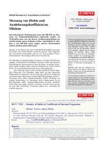 Messung von Dichte und Ausdehnungskoeffizient an Silizium