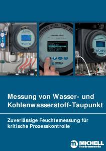 Messung von Wasser- und Kohlenwasserstoff-Taupunkt