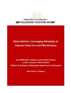 Meta Matters: Leveraging Metadata to Improve Data Use and Effectiveness
