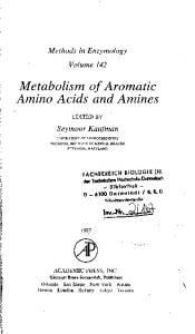 Metabolism of Aromatic Amino Acids and Amines