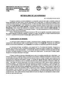 METABOLISMO DE LAS HORMONAS