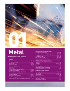 Metal. Arranque de viruta