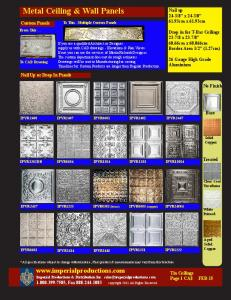Metal Ceiling & Wall Panels