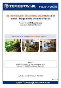 Metal Maquinaria de mecanizado