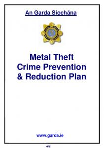 Metal Theft Crime Prevention & Reduction Plan