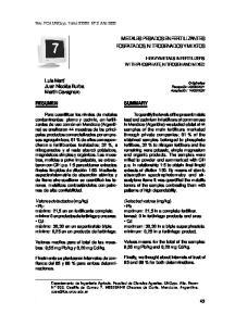 METALES PESADOS EN FERTILIZANTES FOSFATADOS, NITROGENADOS Y MIXTOS