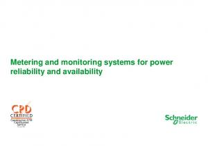 Metering and monitoring systems for power reliability and availability