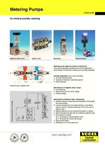Metering Pumps.  for minimal quantity metering US