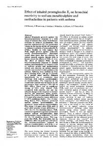 methacholine in patients with asthma