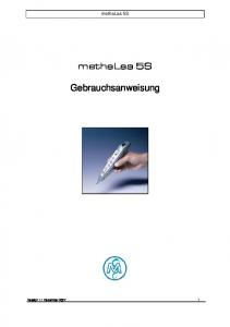 methalas 5S methalas 5S Gebrauchsanweisung Version 1.1 Dezember