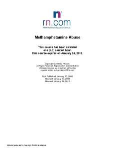 Methamphetamine Abuse
