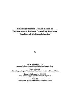 Methamphetamine Contamination on Environmental Surfaces Caused by Simulated Smoking of Methamphetamine