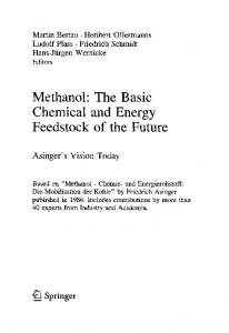 Methanol: The Basic Chemical and Energy Feedstock of the Future