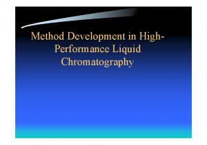 Method Development in High- Performance Liquid Chromatography