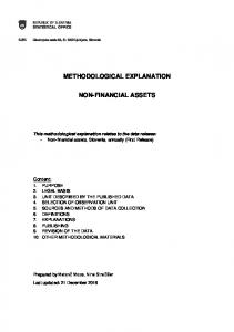 METHODOLOGICAL EXPLANATION NON-FINANCIAL ASSETS