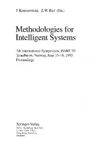 Methodologies for Intelligent Systems