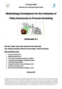 Methodology Development for the Evaluation of Policy Instruments to Promote Servicizing
