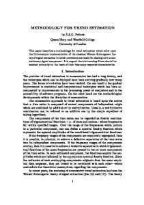 METHODOLOGY FOR TREND ESTIMATION