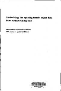 Methodology for updating terrain object data from remote sensing data
