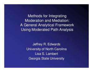 Methods for Integrating Moderation and Mediation: A General Analytical Framework Using Moderated Path Analysis