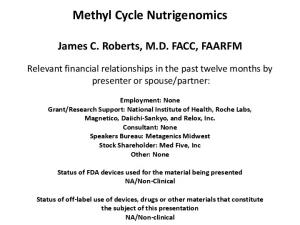 Methyl Cycle Nutrigenomics