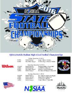 MetLife Stadium High School Football Championships
