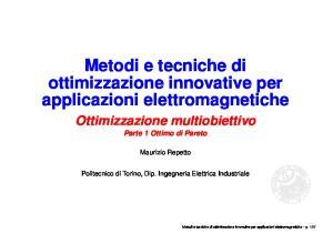 Metodi e tecniche di ottimizzazione innovative per applicazioni elettromagnetiche
