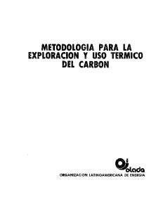METODOLOGIA PARA LA EXPLORACION Y USO TERMICO DEL CARBON