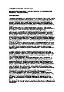 METODOS DIAGNOSTICOS Y ESTRATIFICACION DE RIESGO DE LAS ARRITMIAS VENTRICULARES