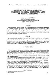 METODOS ITERATIVOS DE RESOLUCION DE ALGUNOS PROBLEMAS DE FRONTERA LIBRE EN MECANICA DE FLUIDOS
