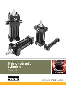 Metric Hydraulic Cylinders. Series HMI