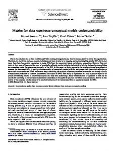 Metrics for data warehouse conceptual models understandability