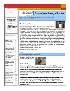 Metro New Jersey Chapter