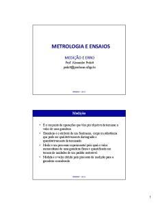 METROLOGIA E ENSAIOS