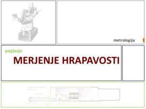 metrologija poglavje MERJENJE HRAPAVOSTI