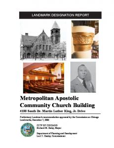 Metropolitan Apostolic Community Church Building