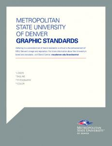METROPOLITAN STATE UNIVERSITY OF DENVER GRAPHIC STANDARDS